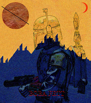 Science Fiction Mixed Media - Boba Fett at Black Spire Outpost by David Lee Thompson