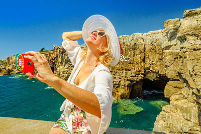 Photograph - Boca Do Inferno Selfie by Benny Marty