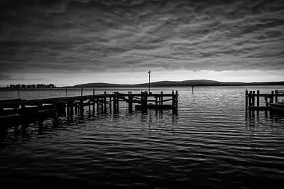 Photograph - Bodgea Bay Black And White by Garry Gay