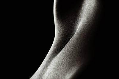 Whimsical Flowers - Bodyscape womans stomach 2 by Johan Swanepoel