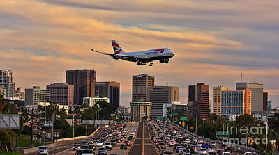 Photograph - Boeing 747 Landing In San Diego by Sam Antonio Photography