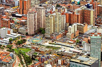 Photograph - Bogota Cityscape Colombia by John Rizzuto