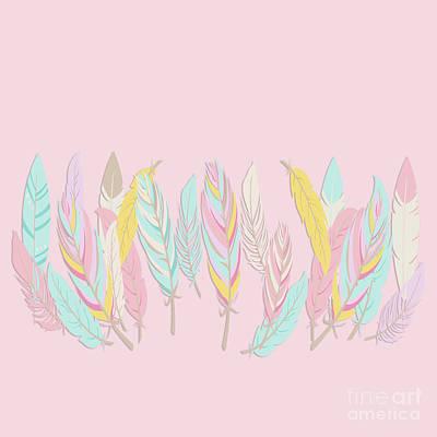 Photograph - Bohemian Feathers Sweet Pink by Sharon Mau