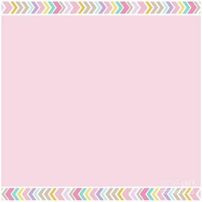 Photograph - Bohemian Rose Quartz Pastels Pink Multi Colour Arrows Border by Sharon Mau