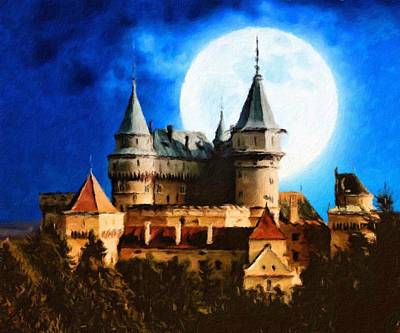 Painting - Bojnice Castle by Vincent Monozlay