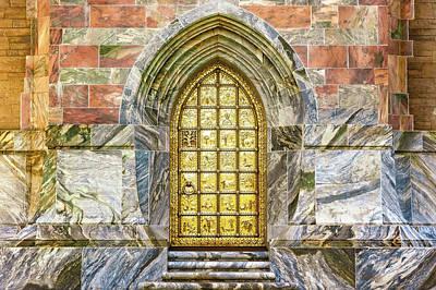 Photograph - Bok Tower Brass Entry Door-bok Tower Gardens  -  Boktowerbrassdoor168942 by Frank J Benz