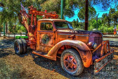 Photograph - Boku Super Food Antique Wrecker Truck Los Angeles California Art by Reid Callaway