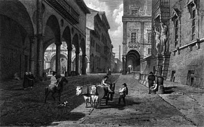 Bologna Main Street Art Print by Hulton Archive