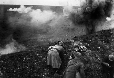 Bombardment Art Print by General Photographic Agency