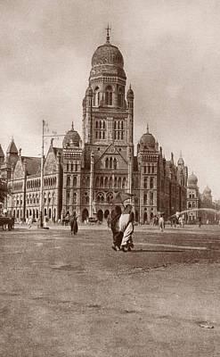 Bombay Municipal Hall Art Print by Hulton Archive