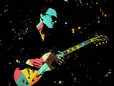 Painting - Bonamassa Playing by Dan Sproul