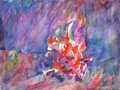 Painting - Bonfire Abstract by Irina Dobrotsvet