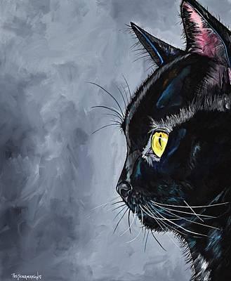 Painting - Boo Kitty by Patti Schermerhorn