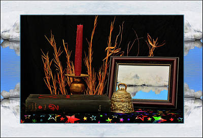 Surrealism Royalty-Free and Rights-Managed Images - Book Bell and Candle by Constance Lowery