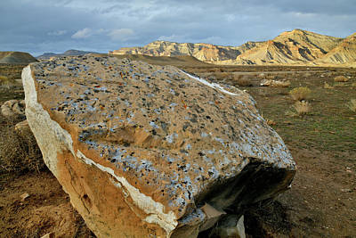 Photograph - Book Cliff Boulder At Sunset by Ray Mathis
