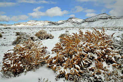 Photograph - Book Cliffs After Morning Snow by Ray Mathis