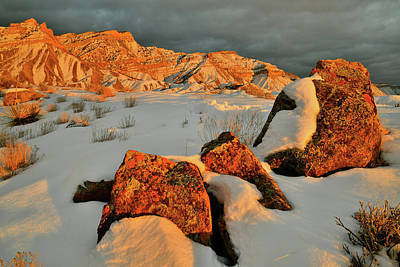 Photograph - Book Cliffs Basking In Winter Sunset Light by Ray Mathis