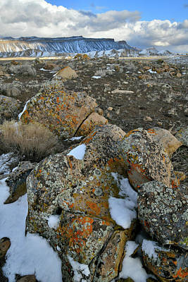 Photograph - Book Cliffs Boulders In Winter by Ray Mathis