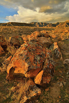 Photograph - Book Cliffs Desert At Sunset by Ray Mathis