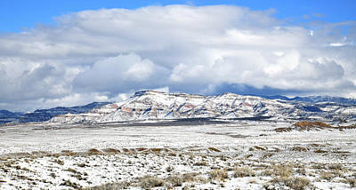 Photograph - Book Cliffs In Winter North Of Loma Colorado by Ray Mathis