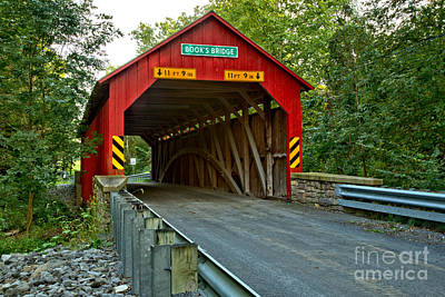 Photograph - Books Covered Bridge Lush Landsape by Adam Jewell