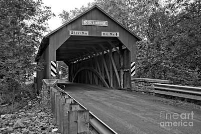 Photograph - Books Covered Bridge Lush Landscape by Adam Jewell