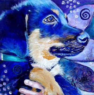 Painting - Boomer Puppy by Jennifer Charton