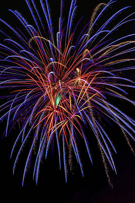 Photograph - Booming Fireworks by Garry Gay