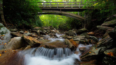 Photograph - Boone Fork Bridge - Blue Ridge Parkway - North Carolina by Mike Koenig
