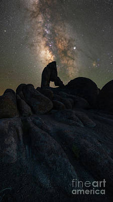 Photograph - Boot Arch Milky Way Vertorama by Michael Ver Sprill
