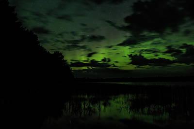 Photograph - Boot Lake Green Aurora by Dale Kauzlaric