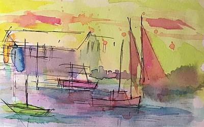 Drawing - Boothbay 1 by Jason Nicholas