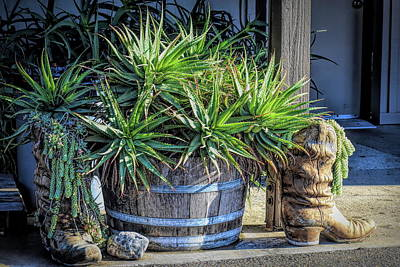 Photograph - Boots And Barrels by Barbara Snyder