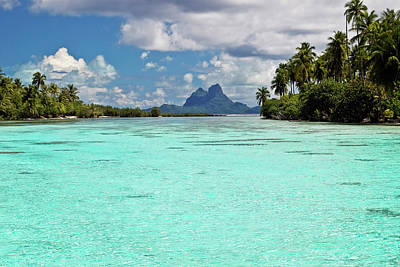 Channel Wall Art - Photograph - Bora Bora At End Of Channel Between Two by Emily Riddell