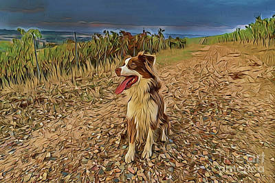 Painting - Border Collie A18-63 by Ray Shrewsberry
