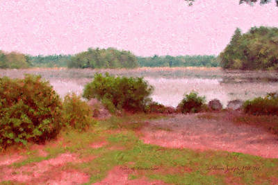 Painting - Borderland Pond With Monet's Palette by Bill McEntee