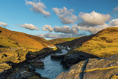 Photograph - Boscastle Harbour, Cornwall by David Ross