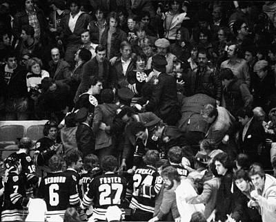 Photograph - Boston Bruins V New York Fans by B Bennett