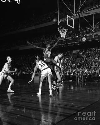 Photograph - Boston Celtics - Phildelphia Warriors by New York Daily News Archive