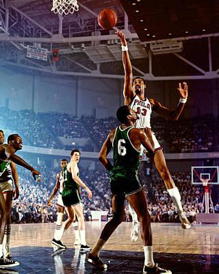 Photograph - Boston Celtics V Philadelphia 76ers by Walter Iooss Jr.