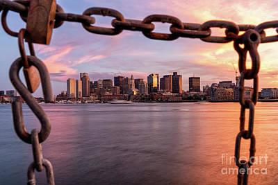 Photograph - Boston - Framed In Chains by Mark Brennan