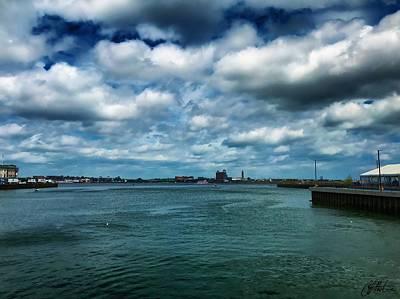 Photograph - Boston Harbor by Chris Montcalmo