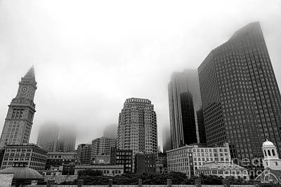 Photograph - Boston In Wicked Thick Fog by Olivier Le Queinec