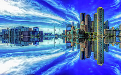Photograph - Boston Inverted by Gordon Engebretson