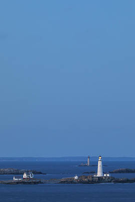 Photograph - Boston Lighthouse And Graves Light Station by Juergen Roth