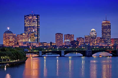 City Scenes Royalty-Free and Rights-Managed Images - Boston Nights 2 by Joann Vitali
