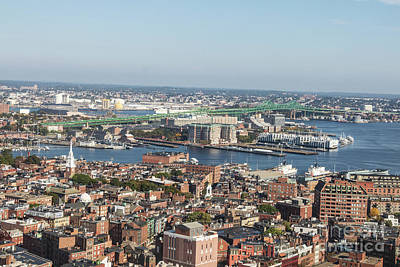 Photograph - Boston North End And Tobin Bridge  by Thomas Marchessault