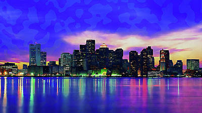 Impressionist Landscapes - Boston, Panorama - 14 by AM FineArtPrints