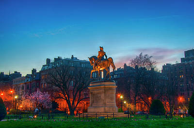 Photograph - Boston Public Garden Blue Hour by Joann Vitali