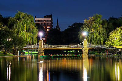 Photograph - Boston Public Garden Bridge Reflection Boston Ma by Toby McGuire